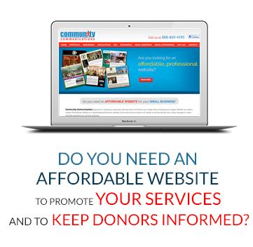Do You Need An Affordable Website To Promote Your Services And To Keep Donors Informed?